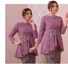 Kebaya Modern Hijab, Model Kebaya Modern, Kebaya Hijab, Kebaya Muslim, Kebaya Lace, Kebaya Dress, Kebaya Simple, Long Sleeve Homecoming Dresses, Hijab Dress Party