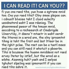 Yep I could read it with my bff Clancy 😂 were amazing 😎 Illusions Mind, Cool Illusions, Funny Mind Tricks, Funny Reading Quotes, Mind Reading Tricks, Brain Tricks, For Facebook, Brain Teasers, Mind Blown