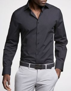 Charcoal Grey with white pant