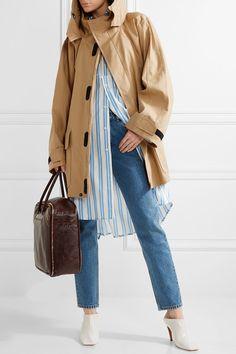 Balenciaga - Hooded Cotton-blend Ripstop Parka - Beige - FR40