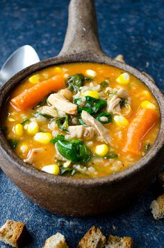Tomato Chicken Rice Soup is a very comforting soup that is the best remedy for cold. Full of flavors and vitamins! A natural immune system booster! | giverecipe.com | #gluten_free #gf @zerringunaydin