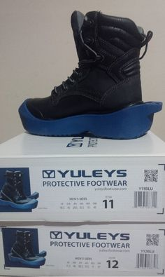 YULEYS Protective Footwear available in a range of sizes.