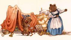David T. Wenzel - Children's Art - Little Bear - Lost in little Bear's Room.