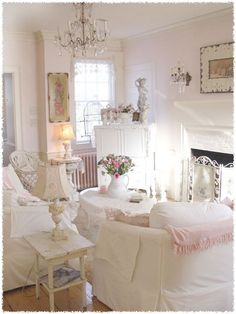 Pale pink and white palette with lovely faded floral accents