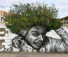 Street art meats nature