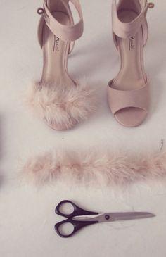 awesome DIY Fluffy Heels ~ Under $30