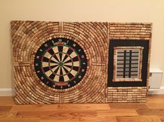 Dart Cork Board Made Out Of Wine Corks