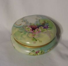 19th Century Limoges Bawo & Dotter Elite Jewel Powder trinket jar