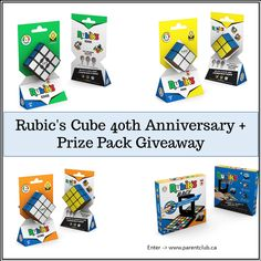 Here's a little something to brighten your day Rubik's Cube Anniversary + giveaway! Enter for a chance to win a prize pack! Cube Puzzle, 40th Anniversary, Brighten Your Day, Toy Store, Game Design, Giveaways, Toys