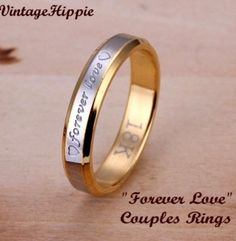 "'Two 18K ""Forever Love""  Couples Rings' is going up for auction at  3pm Sun, Sep 8 with a starting bid of $5."