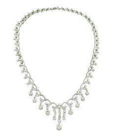 Lot 173 Important 18k white gold and diamond collier  1950/60s http://www.colasantiaste.com/?language=en