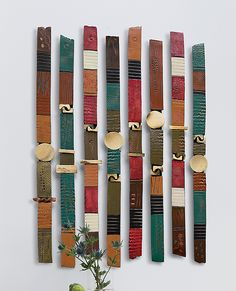 Story Sticks by Rhonda Cearlock: Ceramic Wall Art available at www.artfulhome.com