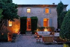 In the peaceful natural setting of the Luberon hills of Provence, France sits this authentic Provencal noble house called 'La Bastide des Chenes', built between the and centuries. While respecting the historic and Provence Style, Provence France, Luberon Provence, French Country House, French Farmhouse, Rustic Farmhouse, Beautiful Homes, Beautiful Places, French Villa