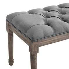 Fast Furniture, Modern Furniture, Vintage Bench, Upholstered Ottoman, Weathered Wood, Extra Seating, Contemporary Decor, French Vintage, Upholstery