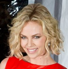 Charlize Theron Curly Bob Hairstyle | Short-Hair-Styles Hairstyle