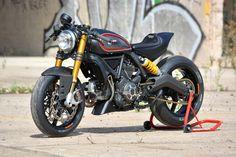 Showstopper: a hot-rodded Ducati Scrambler custom from Marcus Walz.