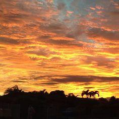 Fiery sunset in Miami. Photo courtesy of jennikrocks on Instagram. #howisummer