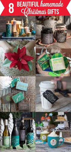 8 Beautiful Homemade Christmas Gifts- make something special for someone with one of these beauties.