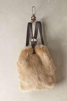 Plush Faux-Fur Backpack