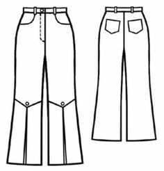Not for me, but maybe those pants I've been seeing with the ruffles around that lower part... seen mostly with jeans, I think. Free pattern. example - #5128 Pants