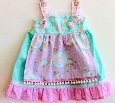 Bunny Queen Knot Dress Girls dress toddler dress by LemonDoozyLane