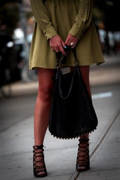 Zara heels & Alexander Wang bag