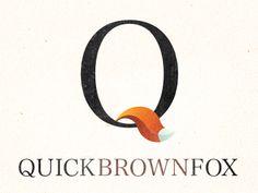 Quick brown fox logo by Roman Gorbachev Identity Design, Logo Design, Logo Branding, Logos, Fox Logo, Typography Fonts, Logo Inspiration, Cool Designs, Brown
