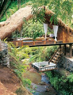 hanging bed rainforest getaway
