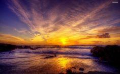 Shore at Dusk HD Wallpaper