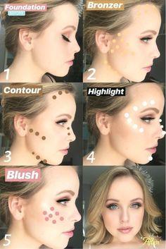 Face Contouring Makeup, Face Makeup, Makeup Set, Prom Makeup, Wedding Makeup, Highlighting Contouring, Best Contour Makeup, Contouring Products, Elf Makeup