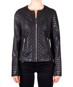 Look what I found on #zulily! Black Quilted Jacket - Women #zulilyfinds
