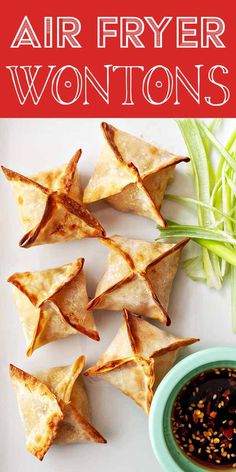 These Air Fryer Crab Rangoon—wontons made with cream cheese and crab—are super crispy, delicious, and easy to make at home. You may never order takeout wontons again! Wonton Recipes, Appetizer Recipes, Vegetarian Appetizers, Party Appetizers, Shrimp Wonton, Crab Rangoon Recipe, Cream Cheese Wontons, Air Fryer Oven Recipes, Thing 1