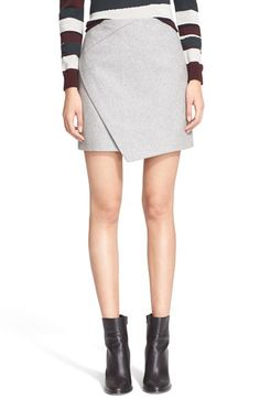 Carven Asymmetrical Wrap Wool Blend Skirt available at #Nordstrom