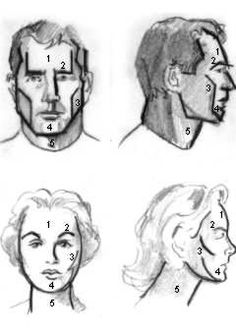 portrettekenen en face - Google zoeken