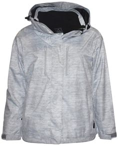 d0b815a7bf Pulse Womens Plus Size 3in1 Bounty Ski Jacket Coat White Grey