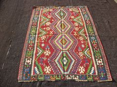 "Small Kilim Rug,4,4""x5,6"" Feet 168x132 Cm Turkish Kilim Rug,Ethnic Kilim Rug,Tribal Kilim Rug,Decorative Kilim Rug."