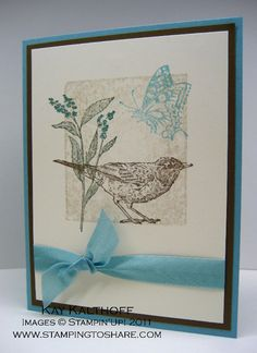 Stamping to Share: 2/9 Stampin' Up! Nature Walk & Shadow Stamping