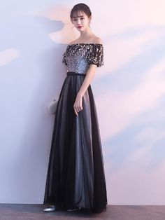 Balck One Shoulder Prom Dresses,A-Line bridesmaid formal Dresses dresses # formaldresses # homecomingdresses Bridesmaid Color, Bridesmaid Dresses, Prom Dresses, Formal Dresses, Party Wear Dresses, Party Dress, One Shoulder Prom Dress, Kebaya, Geisha