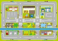 roadmap kids プレイマット 道路 線路 子供 トミカ プラレール