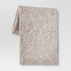 It doesn't get much more familiar and comfortable than this Sweaterknit Throw Blanket from Threshold™. Like a giant sweater for your body, this blanket is a timeless addition to your home, with the modern approach of a chunky, textured knit. Machine washable and ribbed to keep its shape, this blanket will last through many a chilly night and blanket fort.