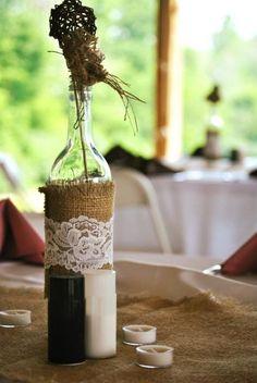 Reusing Wine Bottles As Centerpieces