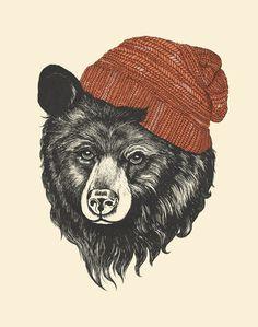"""""""zissou the bear"""" - Art Print - Laura Graves Art And Illustration, Art Hipster, Art D'ours, Art Expo, Number Art, 1 Tattoo, Bear Print, Fauna, Oeuvre D'art"""