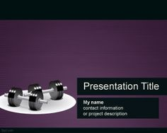 Free fitness PowerPoint template is a free violet background for sport presentations