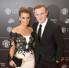 Manchester United striker Wayne Rooney is joined by his wife Coleen ahead of the glitzy awards bash at Old Trafford on Tuesday night