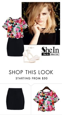 """Floral Blouse - SHEIN"" by inesfragosa on Polyvore featuring A.L.C. and Nly Shoes"