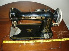 Vintage 1930's Standard Sewing Machine Model R-35 in Original Cabinet RARE in Antiques, Sewing (Pre-1930), Sewing Machines | eBay