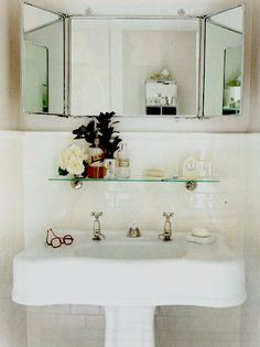 Glamorous bathroom accessorizing and styling clock