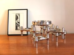 Set of 6 BMF Nagel Candlesticks and a Bowl 1970s / www.alifebefore.com