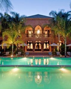 The glam Mosaic Palais Aziza & Spa sits on 10 lush acres of lantern-lit gardens. #Jetsetter