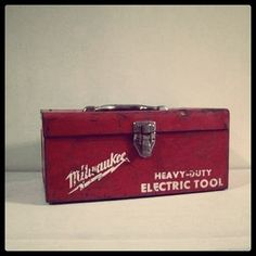 Retro Milwaukee Tool Box.